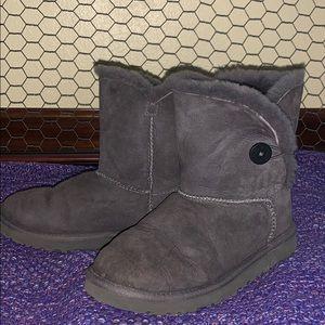 UGG grey Bailey button boots